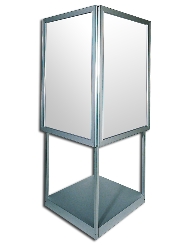 bass loc kiosks freestanding frame