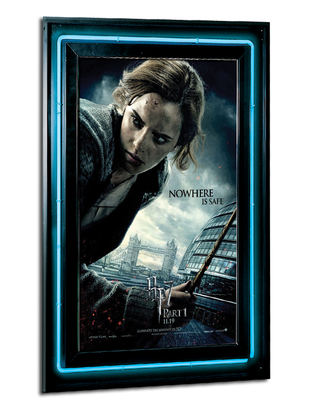 neon reflections series poster marquee