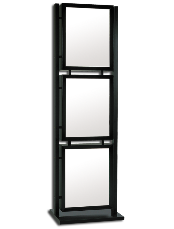 graphic tower series free standing frame