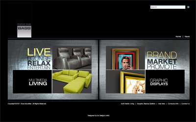 bass industries home page screen shot