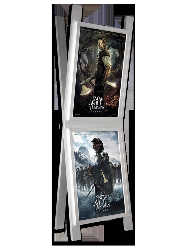 exhibitor freestanding frame